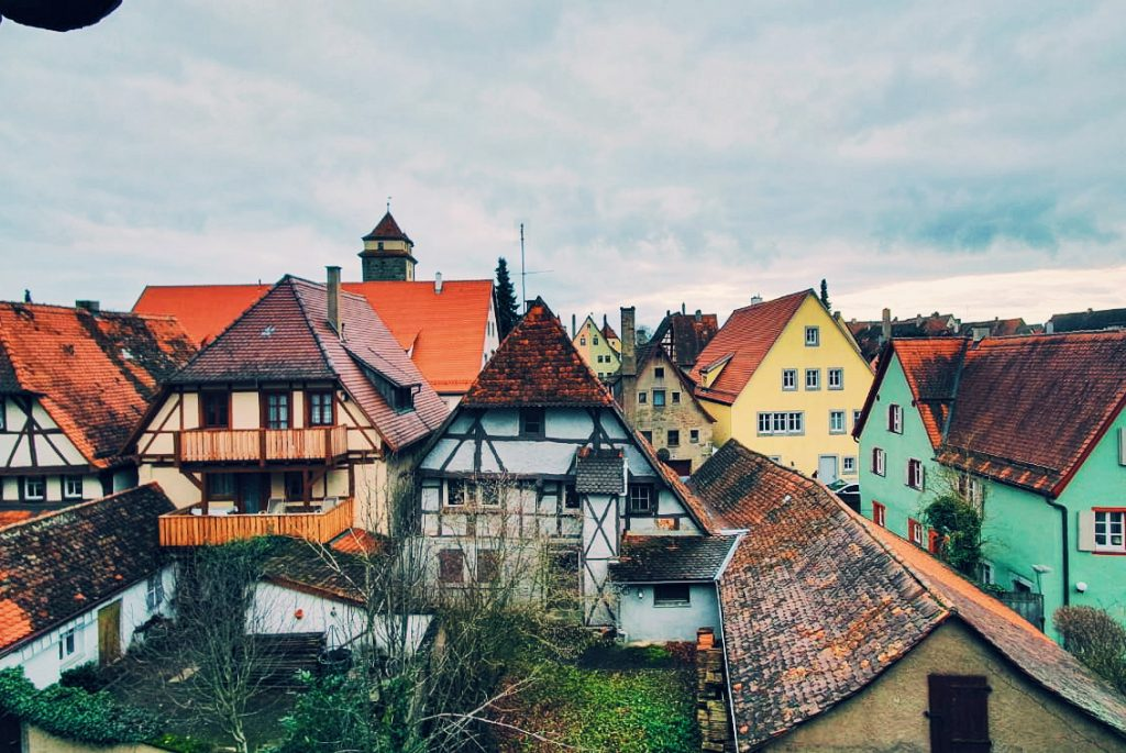 Rothenburg ob der Tauber rooftop view