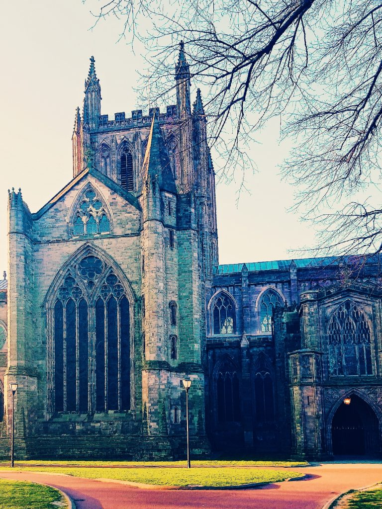 Hereford Cathedral stands tall and magnificent